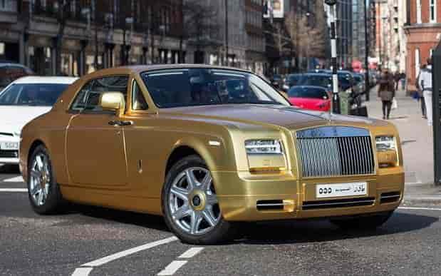 RollsRoyce CAR GOLD
